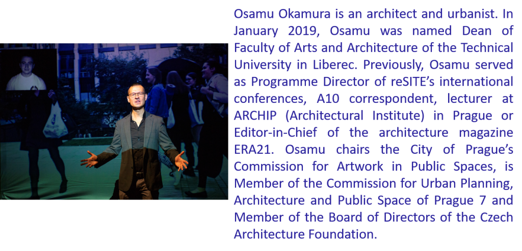 Osamu Okamura as actor in the Virtual Ritual performance + Bio