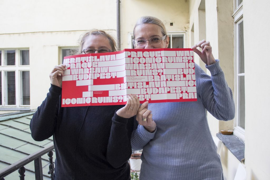 Picture of Sandra Karácsony and Ivana Černá with the Iconic Ruins Publication